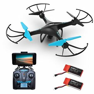 Drone-with-Camera-Live-Video-U45W-Blue-Jay-HD-Drones-FPV-RC-Quadcopter