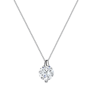 2Ct-Round-Cut-D-VVS1-Diamond-Solitaire-Necklace-14K-White-Gold-Over-Sterling