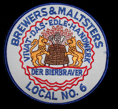 Brewers &Maltsters,Local No 6 Union Jacket Patch-Saint Louis, MO-RARE!