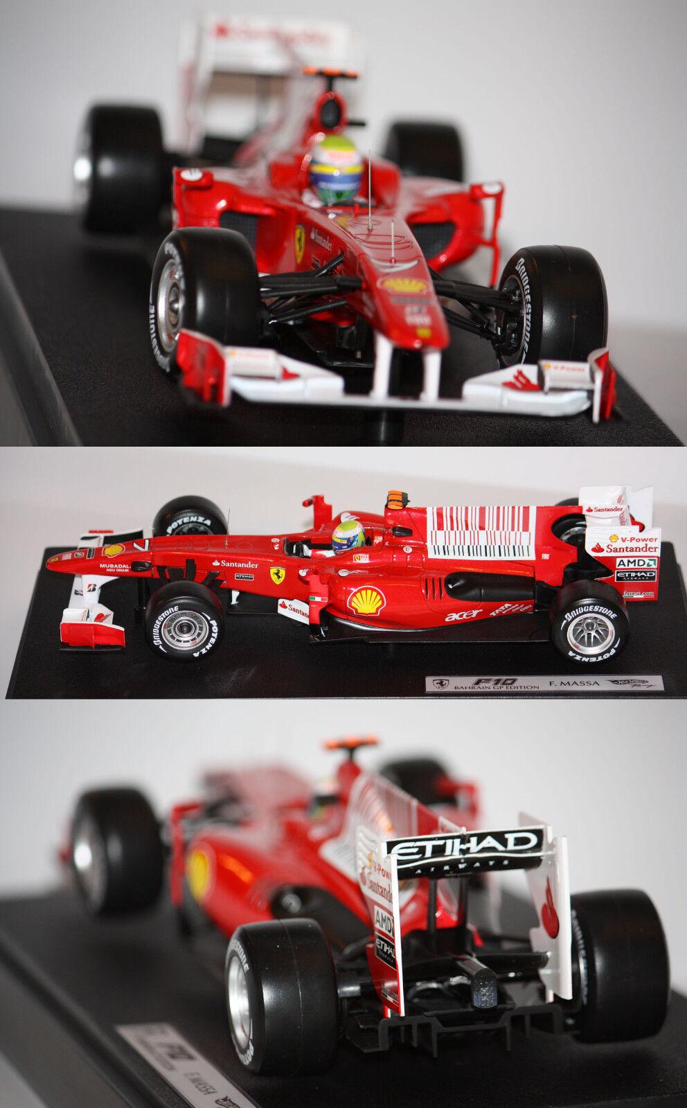 Hotwheels F1 Ferrari F10 F. Massa 2010 1 18 T6288 13
