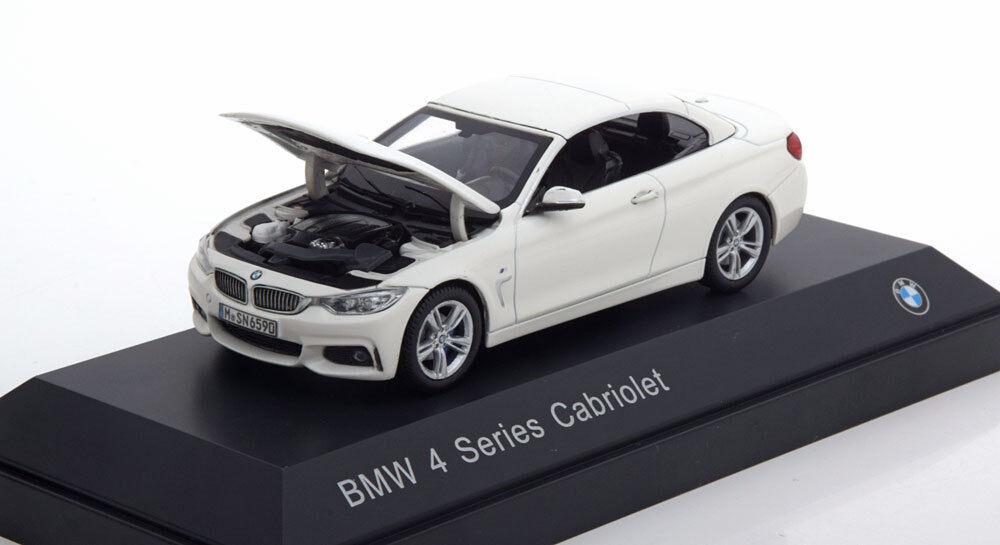 BMW 4ER 3.5I SERIES CABRIOLET 2013 F32 METAL blanc I-SCALE 80422336867 1 43