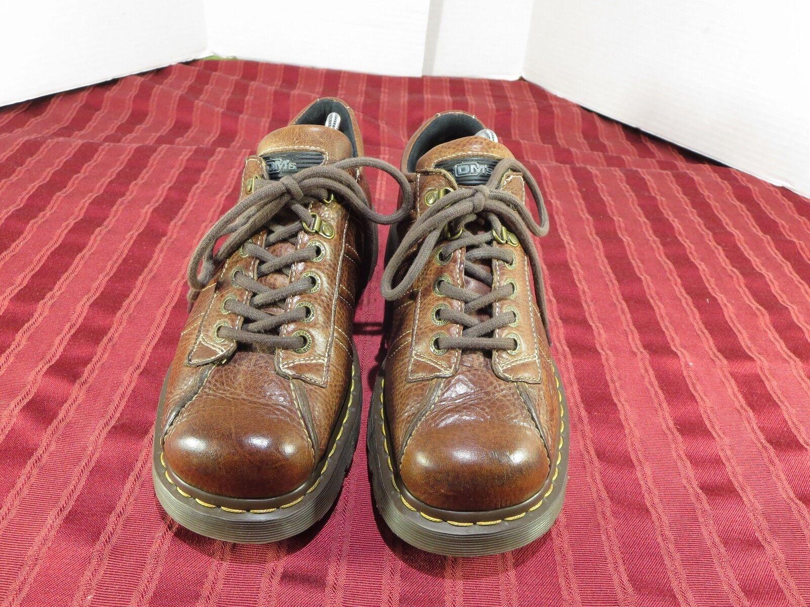 Dr Martens DM's 9764 Brown Leather Comfort Casual shoes Men Size 10 43 EUR