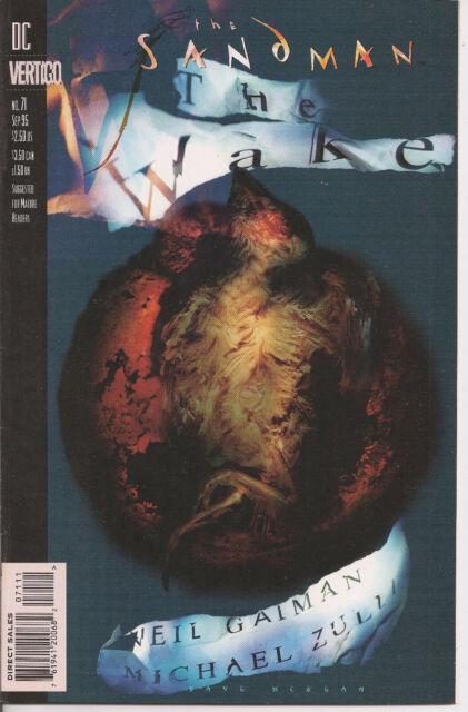 °THE SANDMAN #71: THE WAKE part  2 VON 4° US Vertigo Neil Gaiman 1995