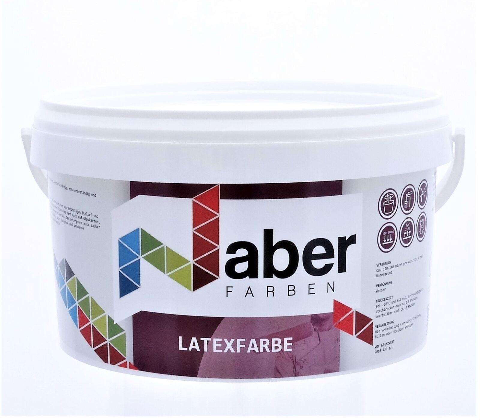 ( /L) 10 L Latexfarbe - RAL 7035 - LICHTGRAU - Latex-Seidenglanz