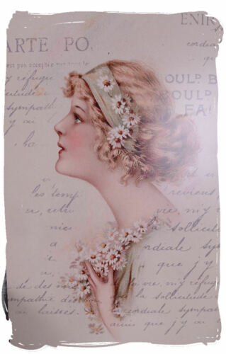 Wall Mural Women Head Art Nouveau Picture Shabby Chic Wall Decoration