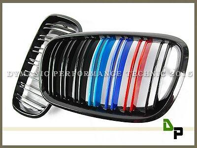 Gloss Black M Style Front M Metallic Color Grille BMW E70 E71 Model X5 X6 07-13