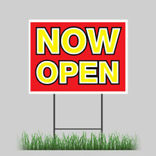 18x24 New Store Now Open Sale Yard Sign With Stake Outdoor Coroplast