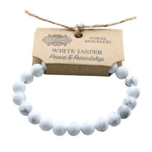 Power-Bracelet-White-Jasper-Peace-amp-Friendship-Brand-New