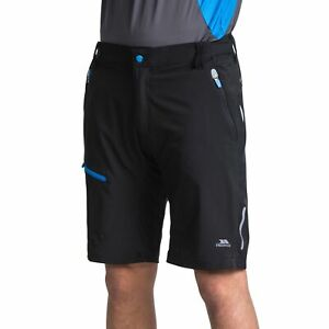 Trespass-Malaki-Mens-Coolmax-Quick-Dry-Padded-Inner-Black-Bike-Cycling-Shorts