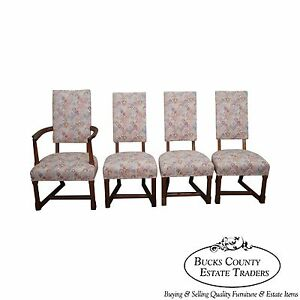 Terrific Details About Jamestown Lounge Feudal Oak Set Of 4 Antique Dining Chairs Ocoug Best Dining Table And Chair Ideas Images Ocougorg