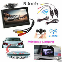 5lcd Auto Monitor+2.4ghz Wireless Car Backup Camera Rear View Night Vision Kit