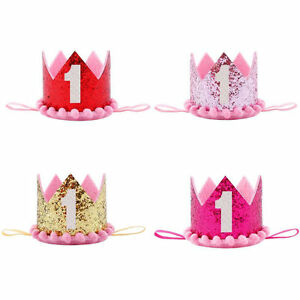 Image Is Loading Baby Girl Boy Kids First Birthday Headband Crown