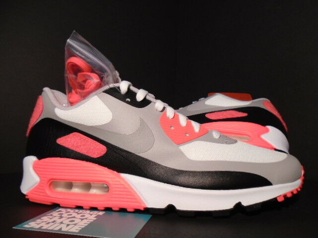 Nike Air Max 90 V SP PATCH VITKOL GRAY INFRARED RÖD SVART 746682-106 DS 9.5