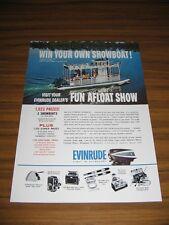 1962 Print Ad Evinrude Outboard Motors Kayot Showboat Pontoon Boat Contest