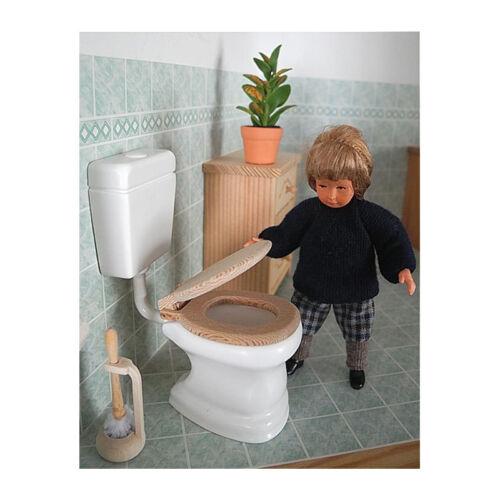 Liebe HANDARBEIT 46111 Toilette mit Spülkasten weiß 1:12 NEU # 0755A