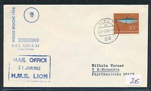 86676) Schiffspost Allemagne Grande-bretagne Gb/uk Kiel 1965, Poissons-n Gb / Uk Kiel 1965, Fischefr-fr Afficher Le Titre D'origine