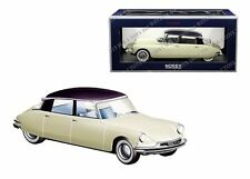 NOREV 1/18 1956 CITROEN DS 19 CHAMPAGNE & AUBERGINE SALON DE PARIS OCTOBER 1955