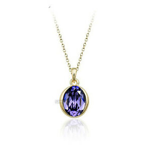 GORGEOUS-18K-WHITE-GOLD-PLATED-GENUINE-PURPLE-AUSTRIAN-CRYSTAL-OVAL-NECKLACE