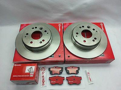 For 2-Brembo Front Brake Rotors /& Pads Kit for Acura MDX 2003-2006