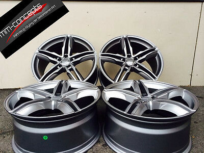 Wheelworld WH11 8 X 18 Zoll 5 X 112 ET45 daytona grau A3 8V 8P S3 Sline Golf 5 6