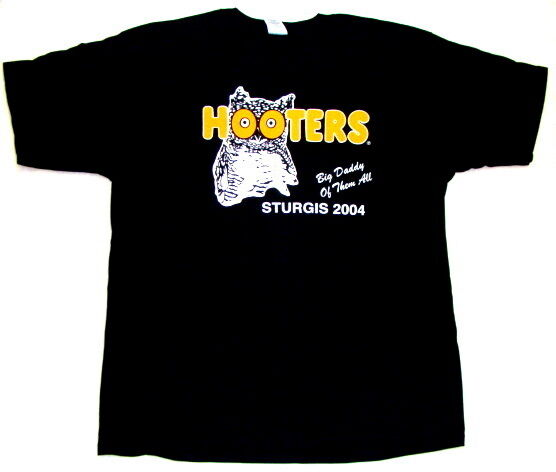 12 Hooters Uniform T-Shirt XXL from Sturgis all Harley Bike Show heavyweight OOP