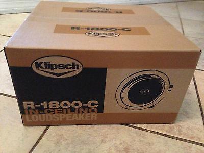 Klipsch R-1800-C White In Ceiling Speaker New In Factory Sealed Box 1 Speaker