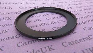 Fotocamera anello step up Filtro Adattatore 62mm a 82mm