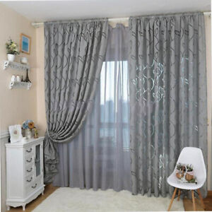 PM-Bubble-Leaf-Pattern-Window-Sheer-Curtain-for-Bedroom-Living-Room-100x270cm