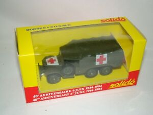 Details about B16 Solido 1/43 scale die-cast 40th Ann Dodge 6x6 US MD  Medical Truck- New
