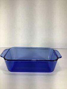 Cobalt-Blue-1-5-QT-Square-Pyrex-Casserole-Baking-Serving-Dish-213-R