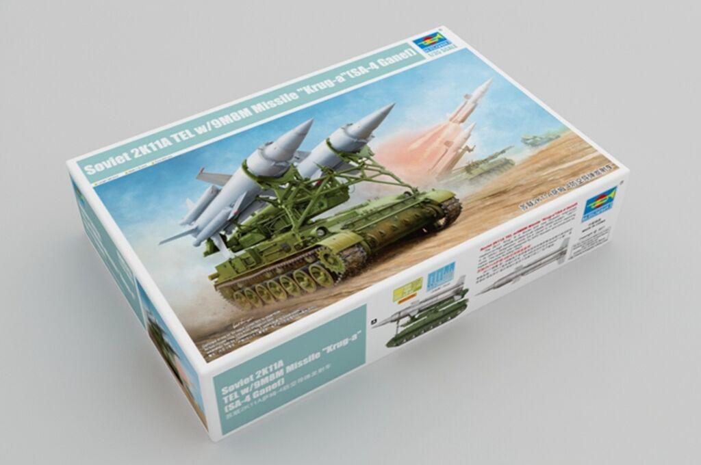 1:35 Bausatz 09523 SA-4 Ganef Trumpeter Soviet 2K11A TEL w//9M8M Missile Krug-a