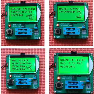 2015 LCD 12864 Mega328 Transistor Tester Diode Triode Capacitance LCR ESR Meter