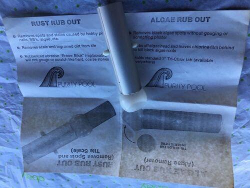 "Purity Pool algae rub out 1"" tri-chlor tab holder"