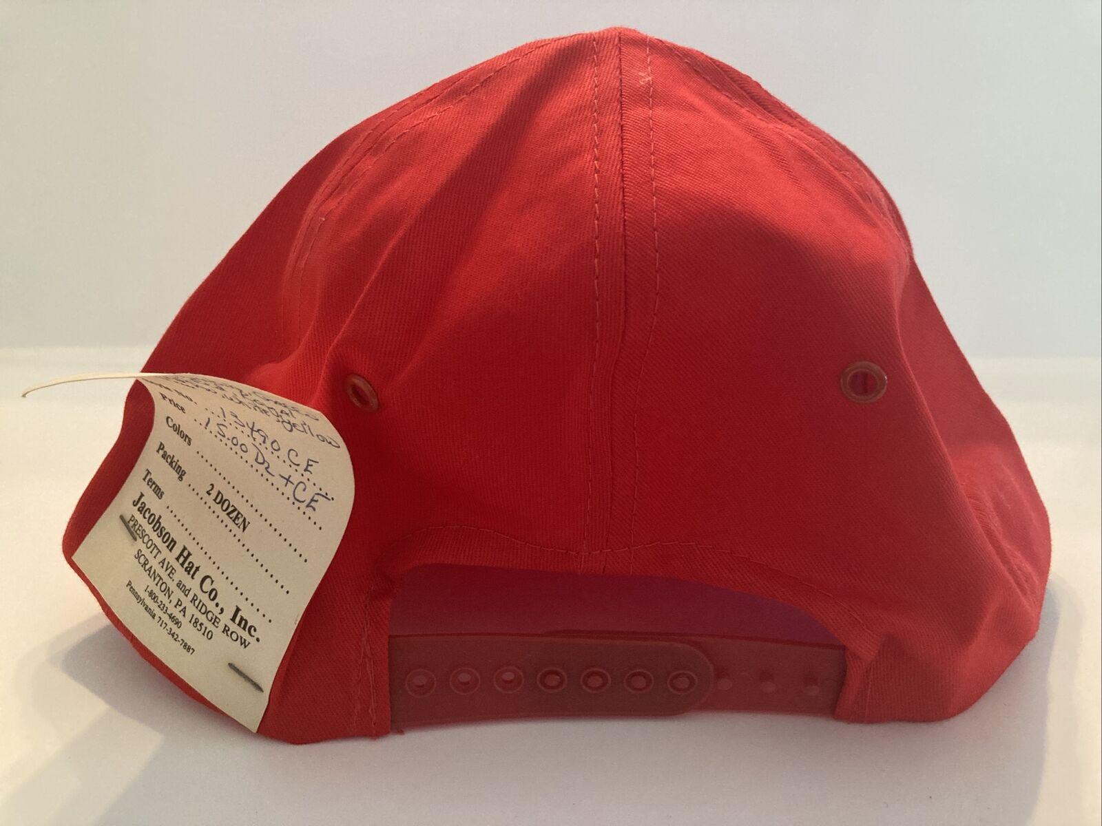 Vintage Red Vermont Snap Back Hat, J Hats, Embroi… - image 4