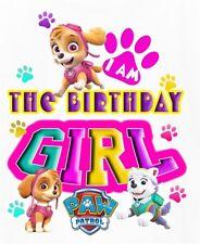 Item 1 PAW PATROL BIRTHDAY GIRLFABRIC T SHIRT IRON ON TRANSFER