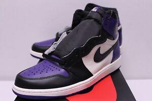 promo code c165a 84d55 Image is loading Air-Jordan-Retro-1-Court-Purple-Black-White-