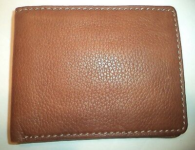 Brown Men/'s Hampton Slim Genuine Leather Billfold Wallet