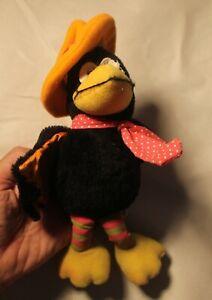 Vintage Russ Berrie Brand Calvin Crow Plush Animal Rattle 9 Inch #520