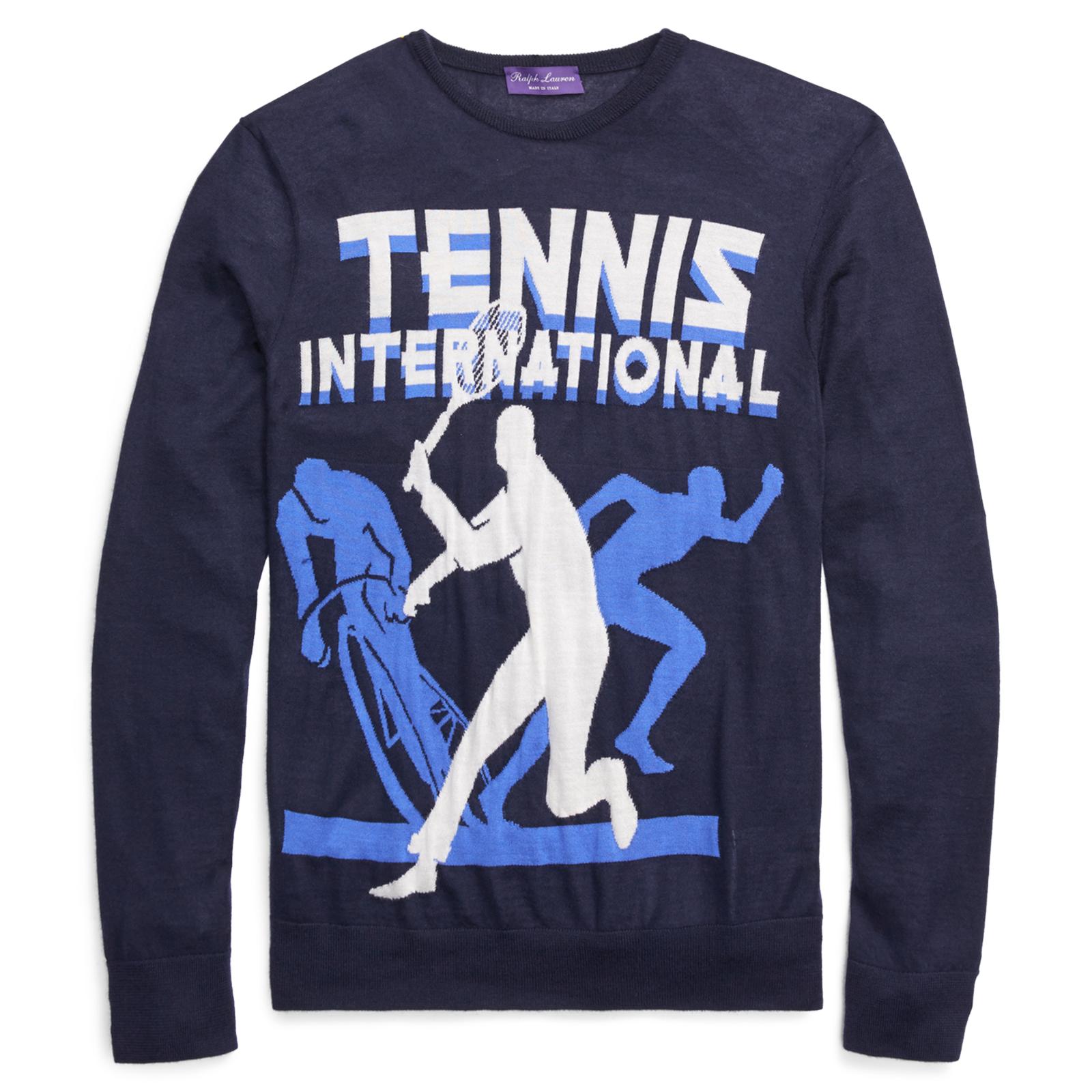 1,295 Ralph Lauren lila Label Wimbledon Knit Cashmere Tennis Cycling Sweater