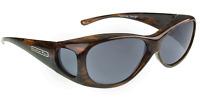 Jonathan Paul Polarized Sunglasses Fit-overs Lotus Brushed Horn Ls002 Medium