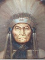 Oil painting of Chief Seattle by Kenneth SU