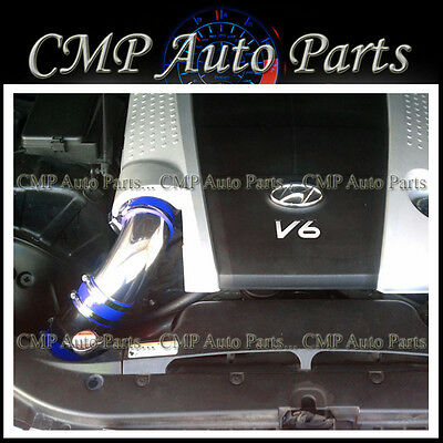 Cold Air Intake Kit BLUE Filter For 09-11 Genesis 4dr Sedan 3.8L V6