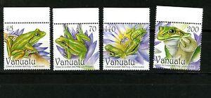 2011-Vanuatu-REPTILIES-Green-and-Golden-Bell-Frog-Set-MNH-Sc-1008-1011
