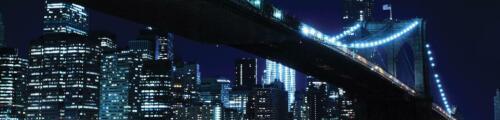 Vlies   Fototapete Tapete Poster 15F0135260 Die Stadt und die Brücke in der Nach