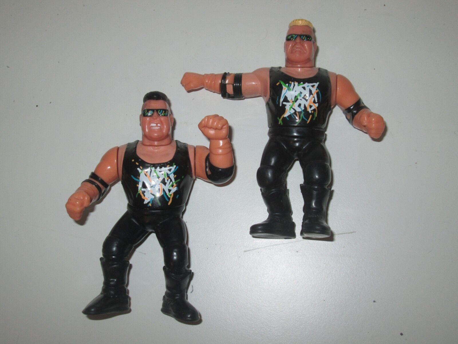 WWF Hasbro Serie Nasty Boys Jerry bajas Brian Perillas Tag Team Juguete Vintage