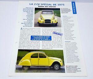 FICHE AUTOMOBILE - LA CITROEN 2 CV SPÉCIAL DE 1975 jjf9nyZD-09152800-587989613