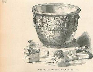 Eglise-Saint-Germain-Tirlemont-Sint-Germanuskerk-Tienen-GRAVURE-OLD-PRINT-1880