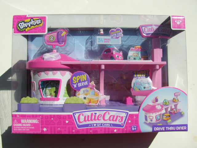 Shopkins Cars Drive Thru Diner Playset Exclusive 34 Wizzy Soda Car New