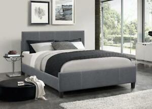**BRAND NEW** Dark Grey Fabric Bed With Contrast Stitching **FREE SHIPPING** Hamilton Ontario Preview