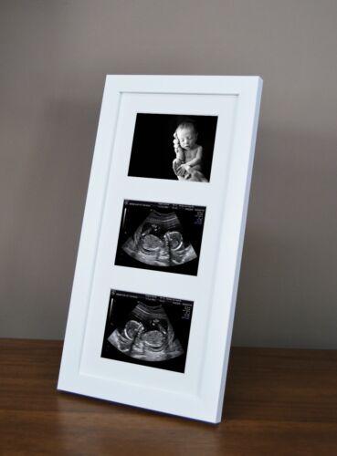 Triple Grossesse Ultrasound Scan /& Photo 1st fait à la Main Cadre Baby Shower cadeau